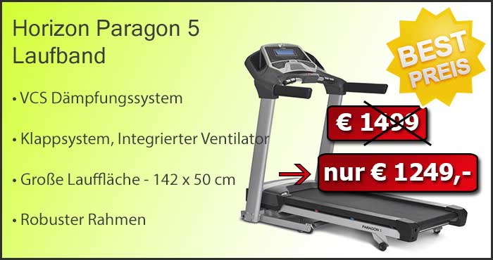 Horizon Paragon 5 Laufband zum Sonderpreis!