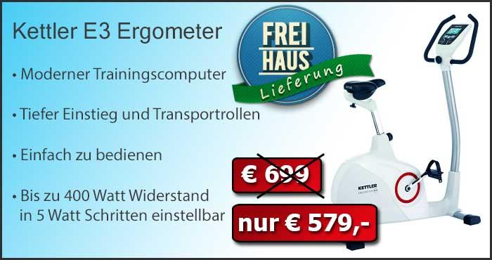 Kettler Ergometer E3 - Angebotspreis
