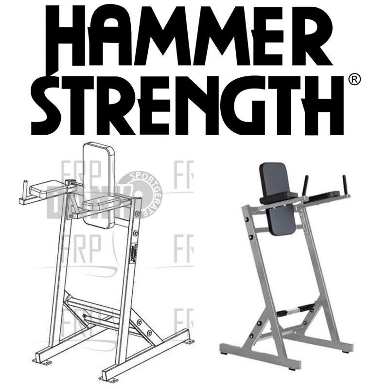 Hammer Strength Leg Raise Gestell, Beinheben Ständer, Farbe Schw