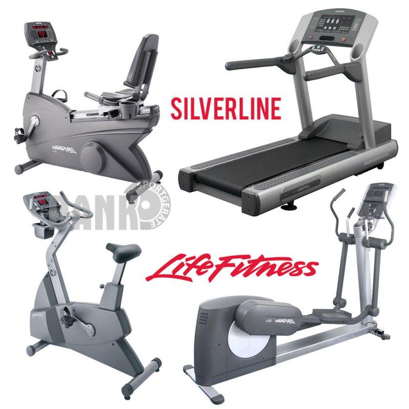 Fitnessgeräte  Life Fitness Cardiogeräte Silverline Set, 9 Fitnessgeräte,
