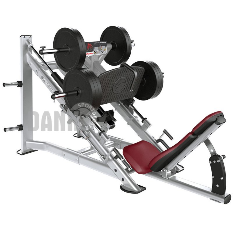 life fitness linear leg press plate loaded beinpresse mit scheibena. Black Bedroom Furniture Sets. Home Design Ideas